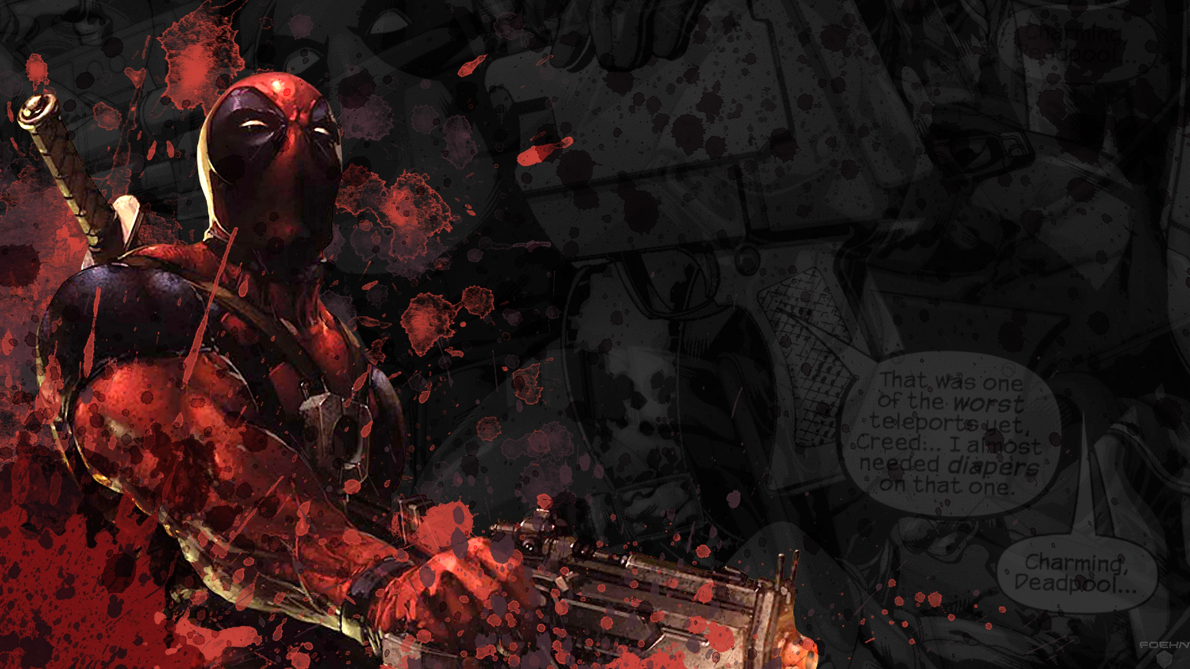 56 4k ultra hd deadpool wallpapers | background images - wallpaper abyss