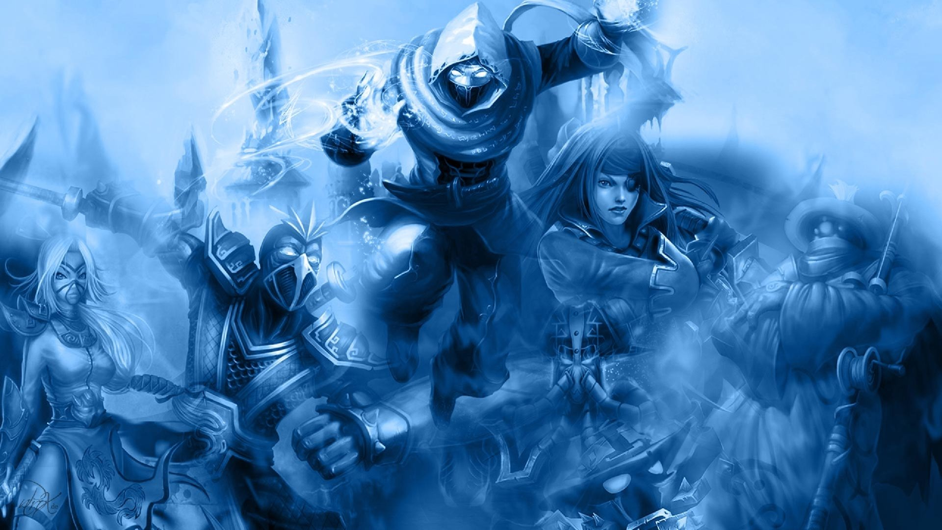 Video Game - League Of Legends  Jax (League Of Legends) Katarina (League Of Legends) Shen (League Of Legends) Akali (League Of Legends) Malzahar (League Of Legends) Wallpaper