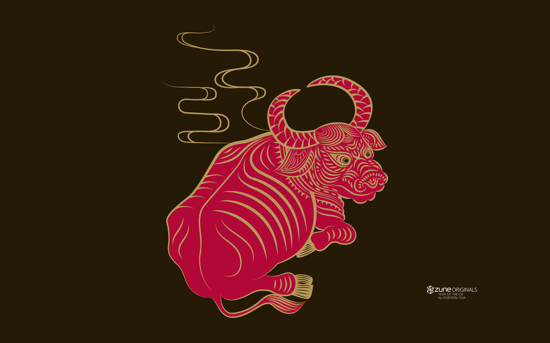 products zune zodiac cow wallpaper