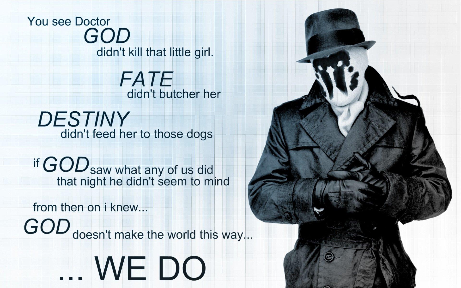 Films - Watchmen  Rorschach Films Whatchmen Quote Woord Wallpaper