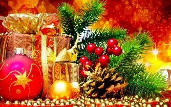 Holiday Christmas Gift Christmas Ornaments HD Wallpaper | Background Image