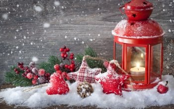 Holiday Christmas Christmas Ornaments Lantern HD Wallpaper | Background Image