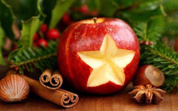 Holiday Christmas Apple Cinnamon HD Wallpaper | Background Image