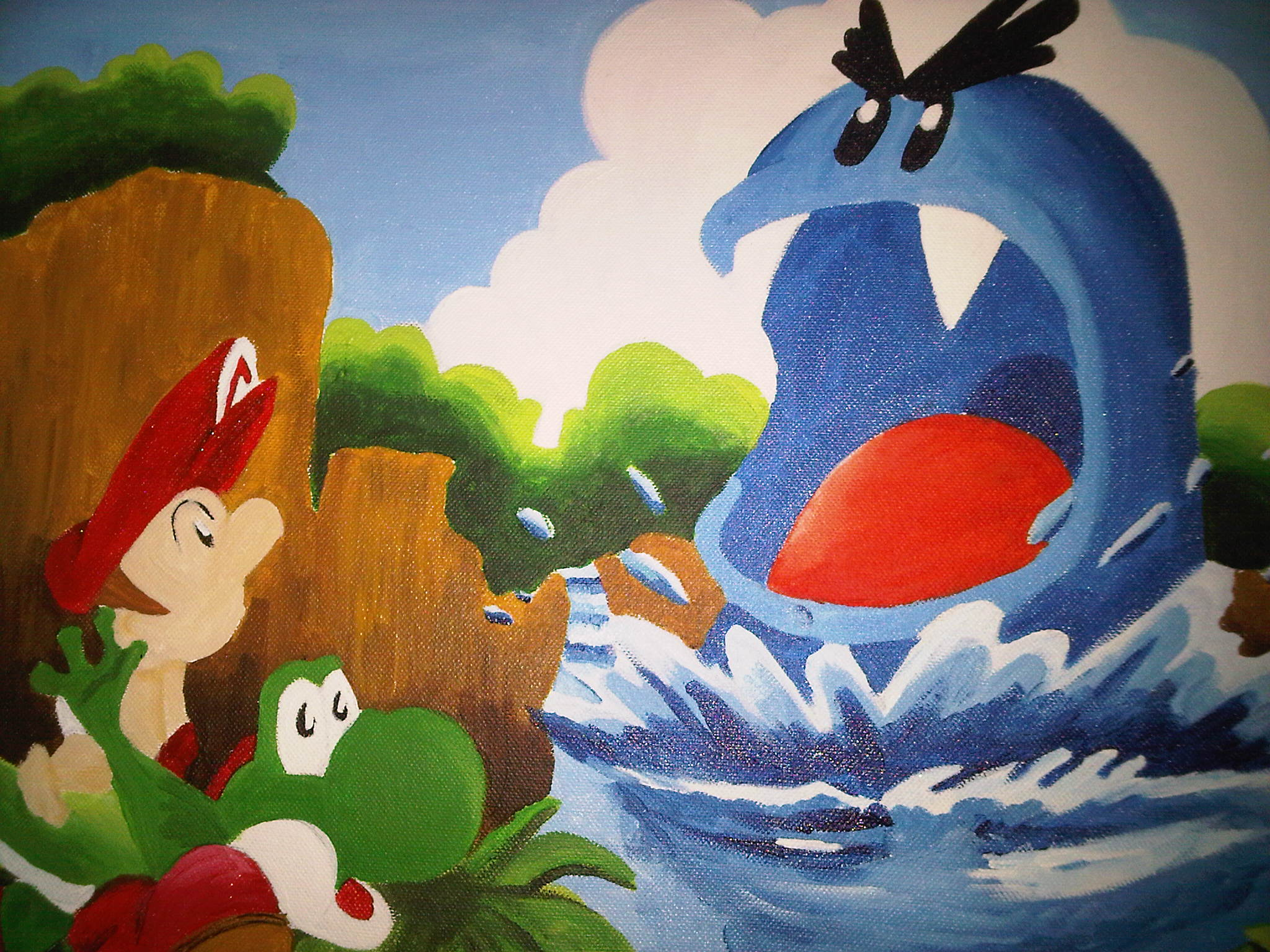 super mario world 2 yoshi's island hd wallpaper
