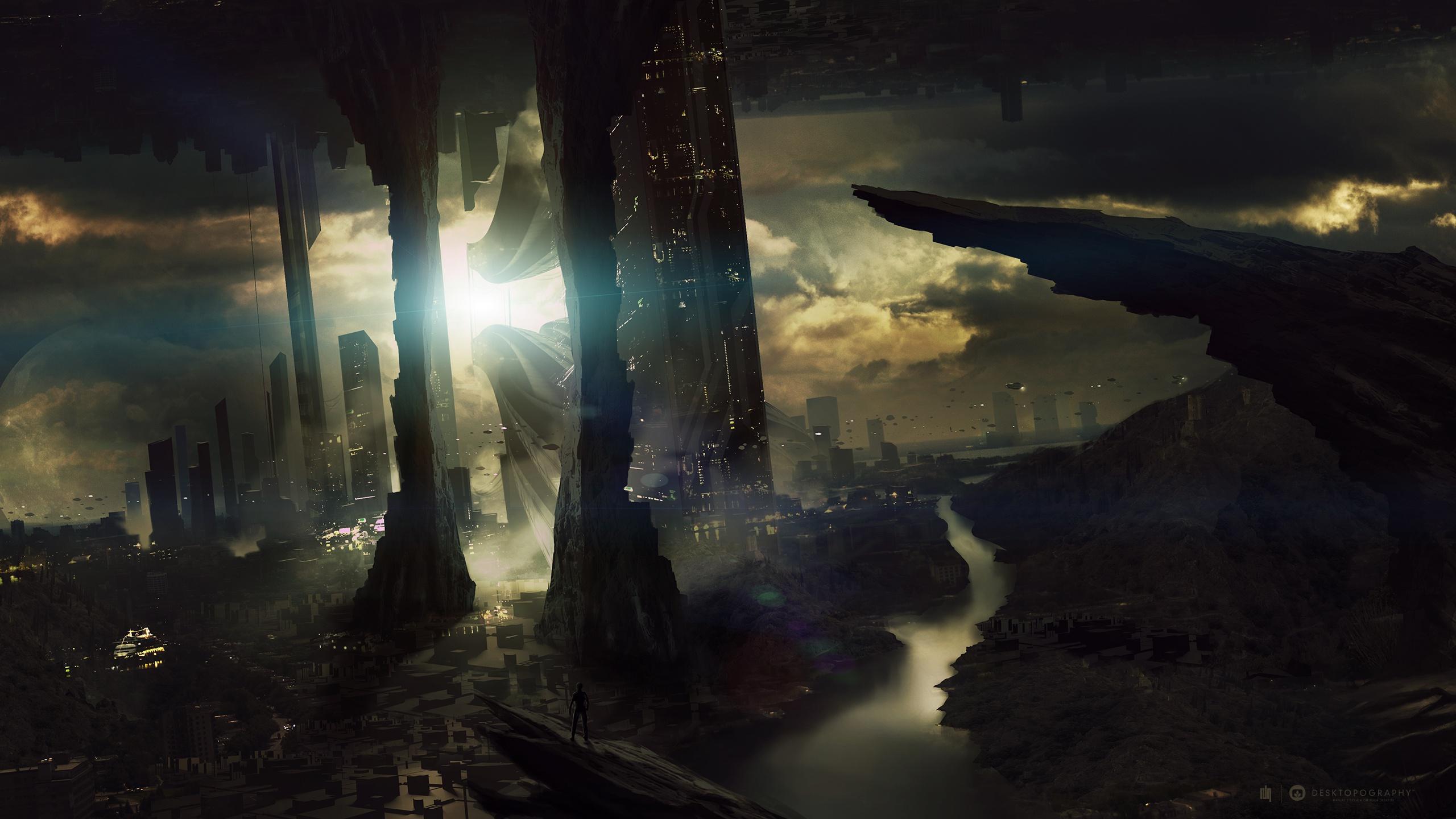 Sci Fi Wallpaper 2560x1440: Landscape HD Wallpaper