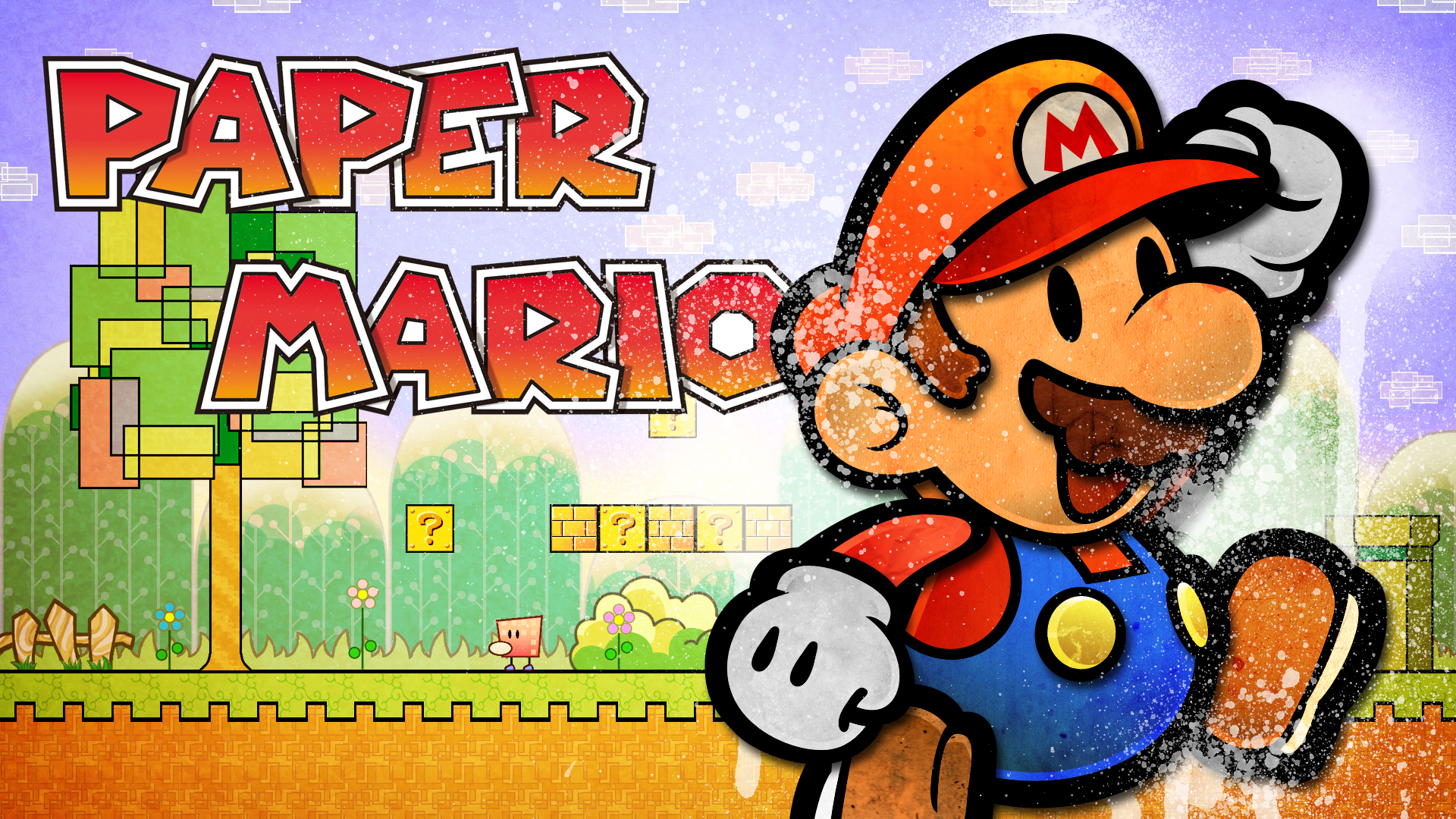 Super Paper Mario Full HD Wallpaper And Background Image
