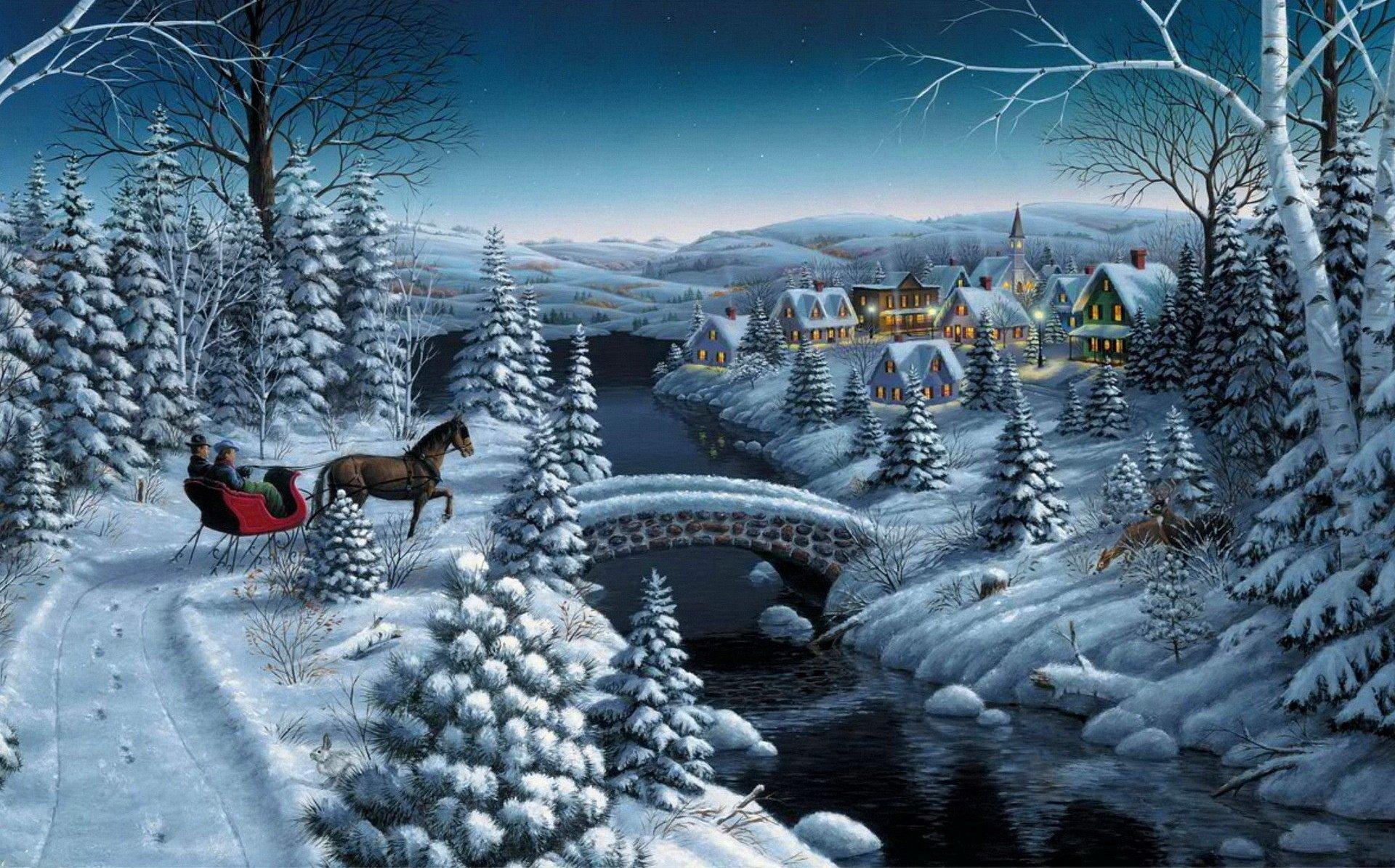 艺术 - 冬季  壁纸