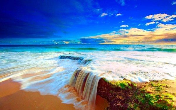 Tierra/Naturaleza Océano Playa Tropico Turquesa Horizon Sunny Sea Cielo Fondo de pantalla HD | Fondo de Escritorio