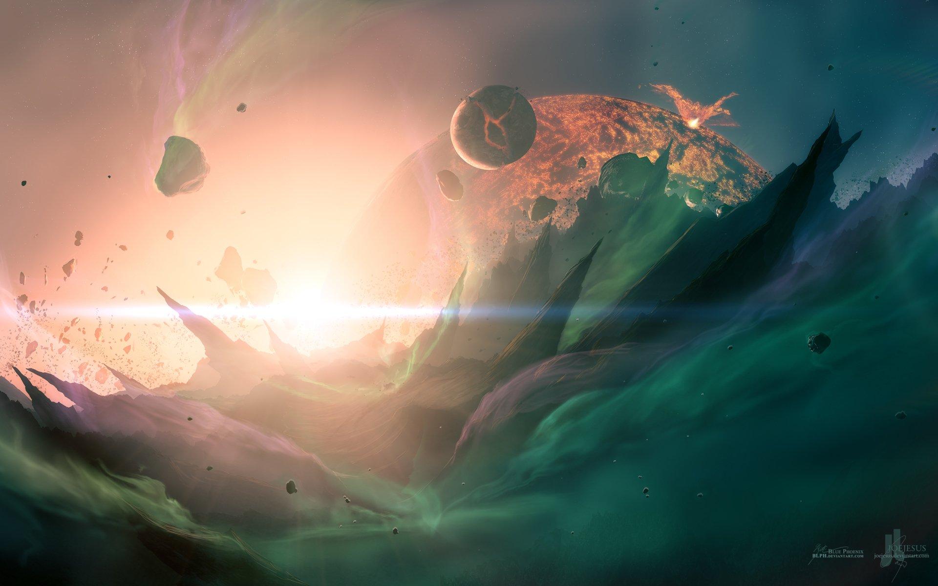 Sci Fi - Collision  Wallpaper