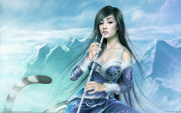 Fantasy Women Flute HD Wallpaper | Background Image