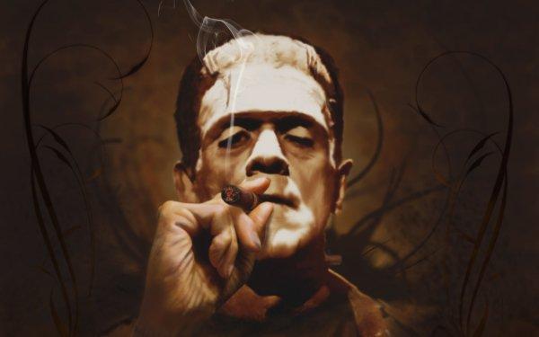 Oscuro Frankenstein Smoking Fondo de pantalla HD | Fondo de Escritorio