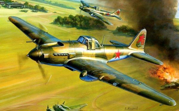 Military Ilyushin Il-2 Military Aircraft World War II HD Wallpaper | Background Image