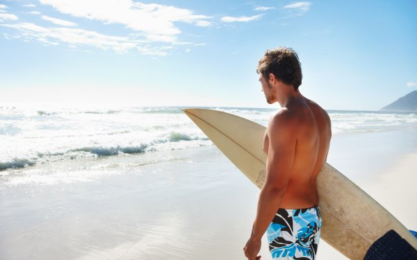 Sports Surfing Surfboard Ocean Sea Man Surfer Wave HD Wallpaper | Background Image