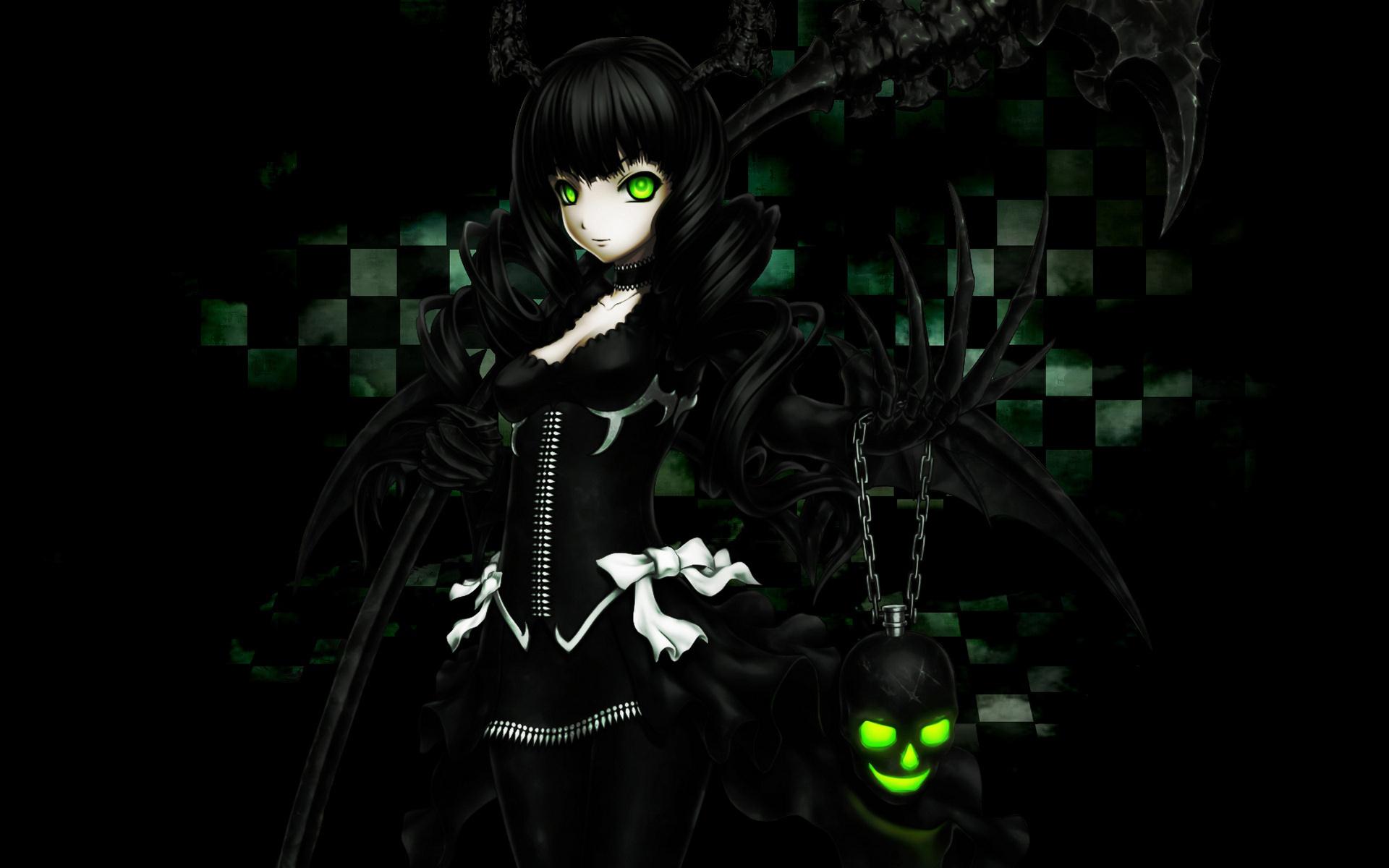 Black rock shooter hd wallpaper background image - Dark anime girl pics ...