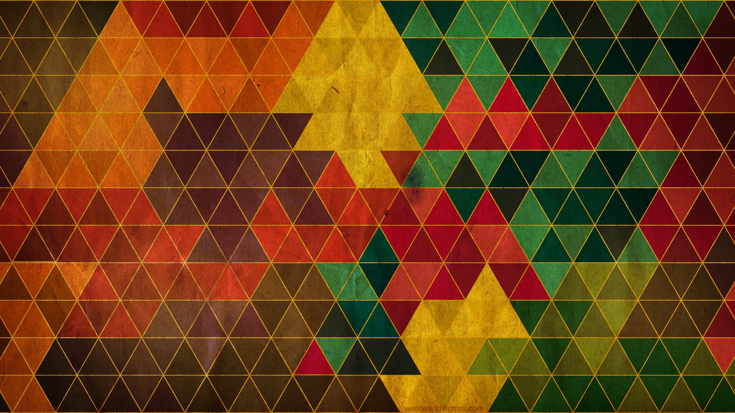 Triangle Abstract Pattern Wallpaper