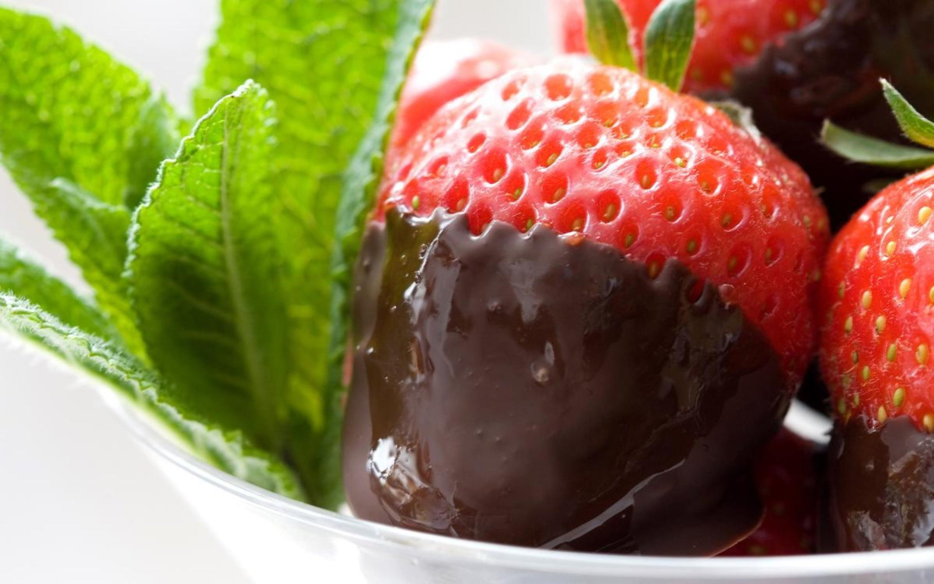 Alimento - Strawberry  Chocolate Sfondo