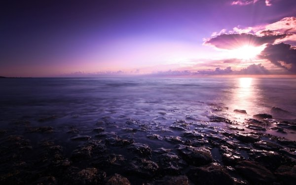 Earth Sunset Beach Shore Seashore Reflection Cloud Sun Water HD Wallpaper | Background Image