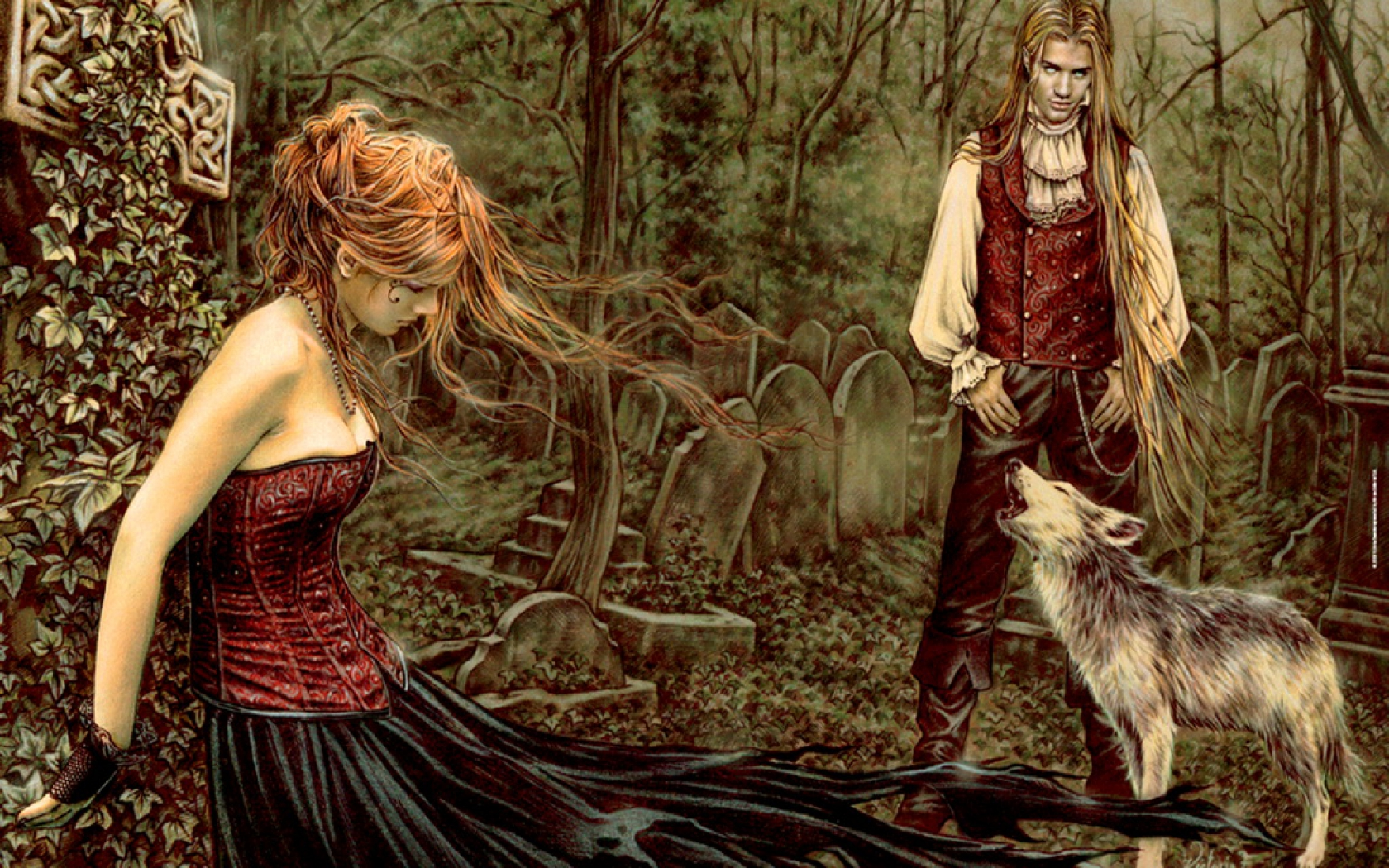 Gothic Love couple Wallpaper : Gothic Love Wallpaper and Background Image 1680x1050 ID:348287