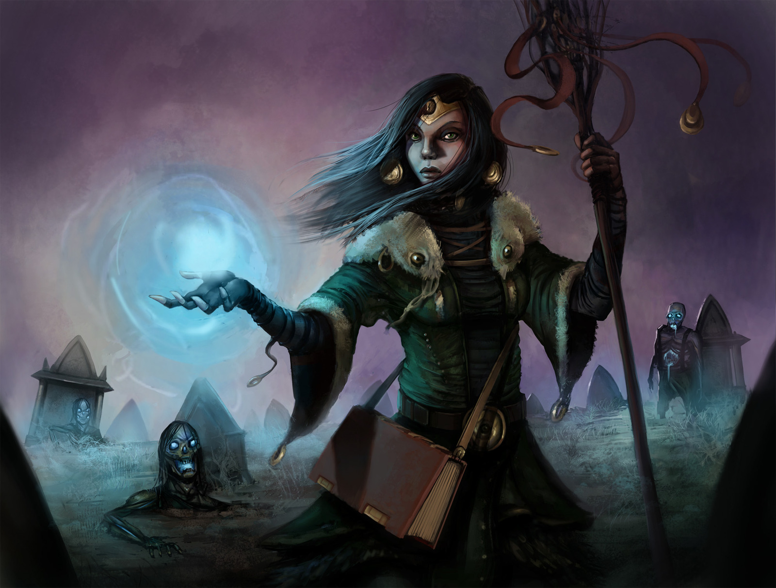 Fantasy Art Necromancers Wallpapers Hd Desktop And: Witch Wallpaper And Background Image