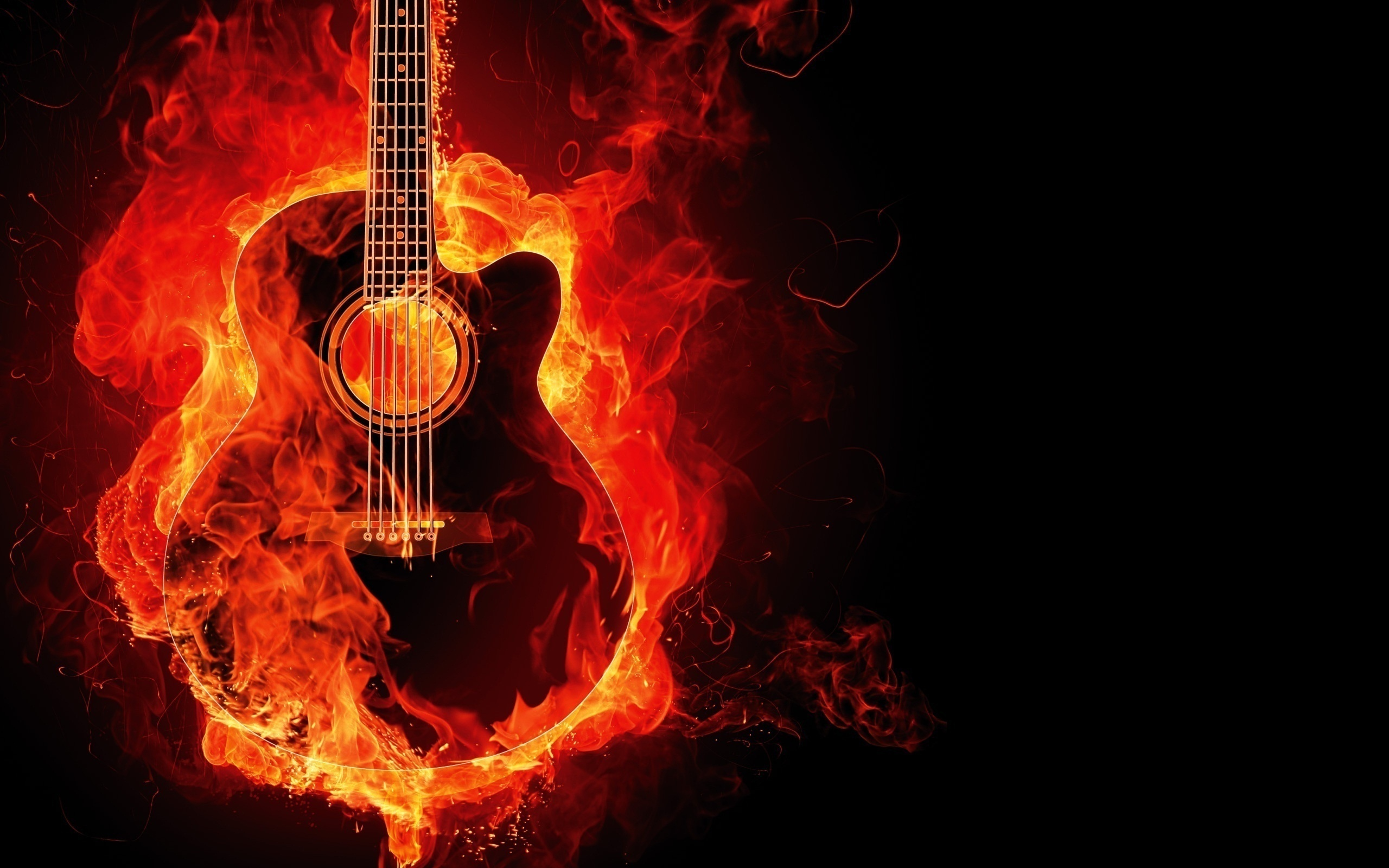 Playing Fire Wallpaper Free: Guitar Full HD Wallpaper And Background Image