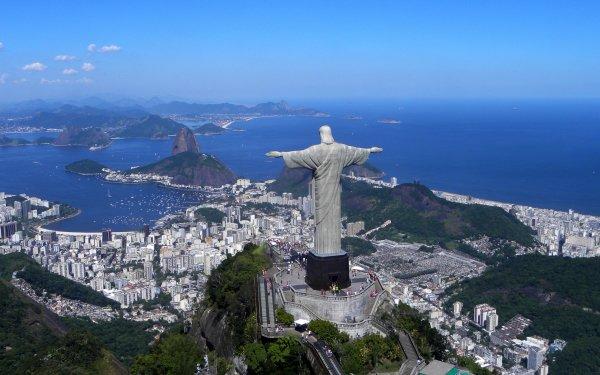 Man Made Rio De Janeiro Cities Brazil Rio Janeiro Corcovado Christ the Redeemer HD Wallpaper | Background Image