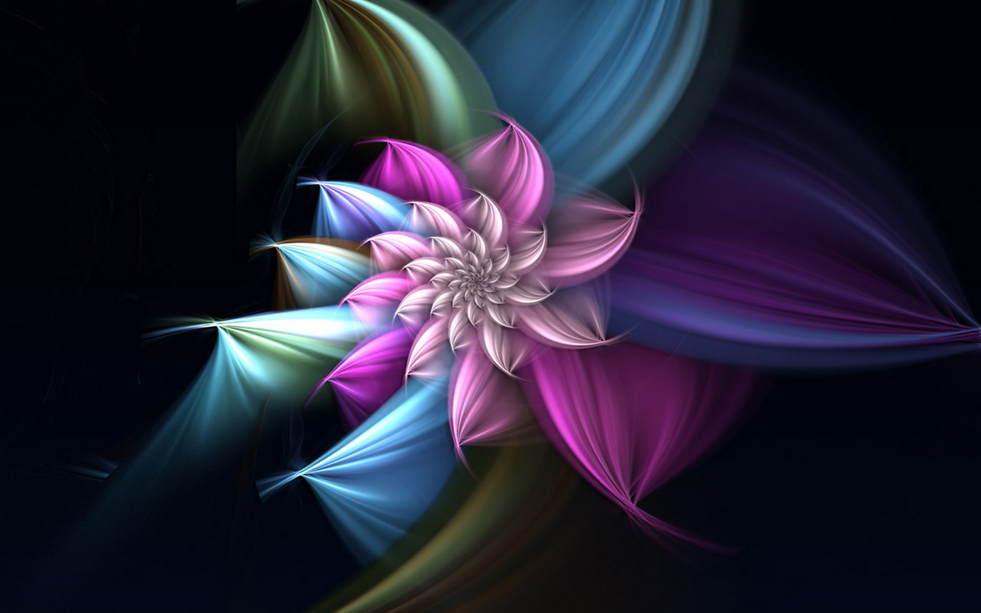 Abstract Design Flower Wallpaper: Fractal Full HD Wallpaper And Background Image