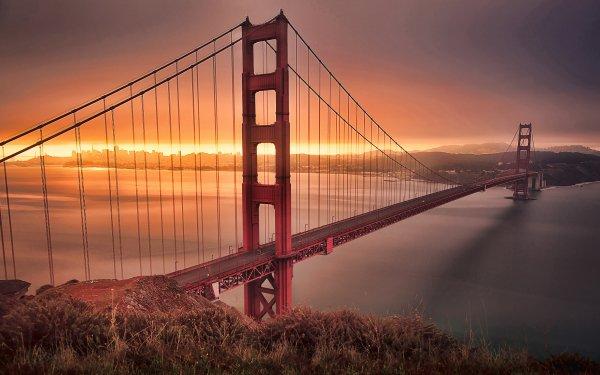 Man Made Golden Gate Bridges HD Wallpaper | Background Image