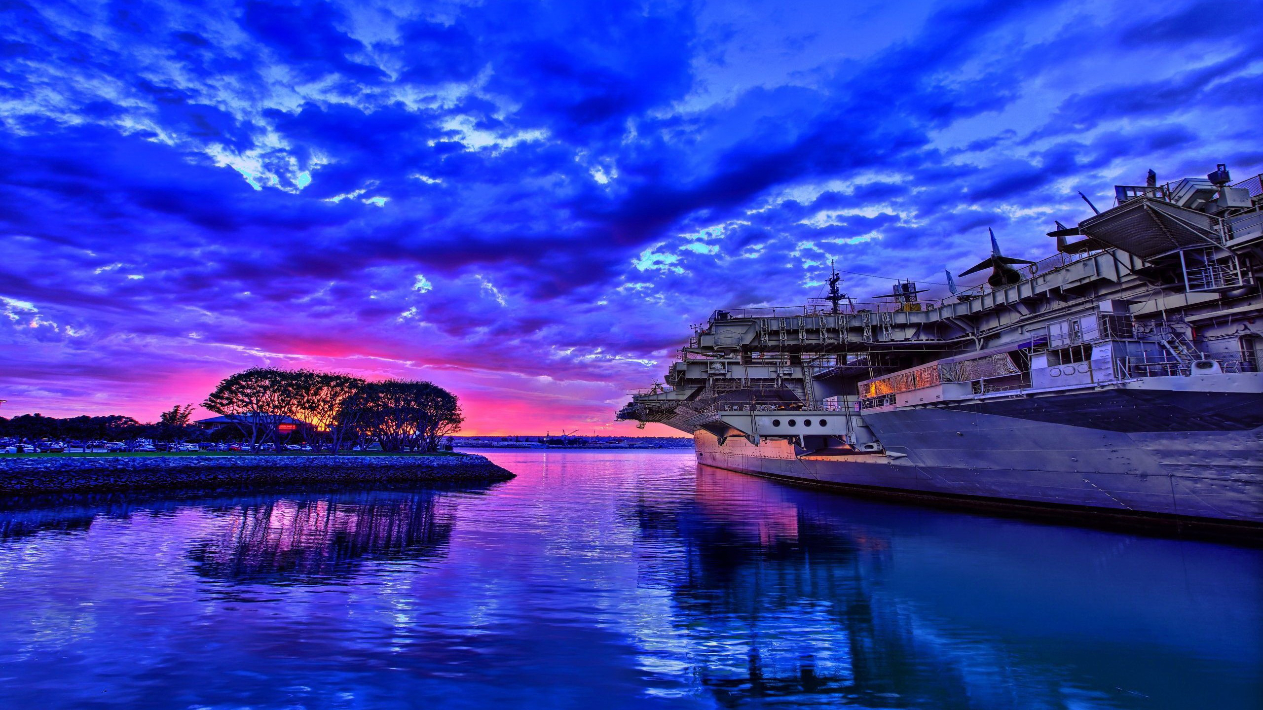 Aircraft Carrier Hd Wallpaper Background Image 2560x1440