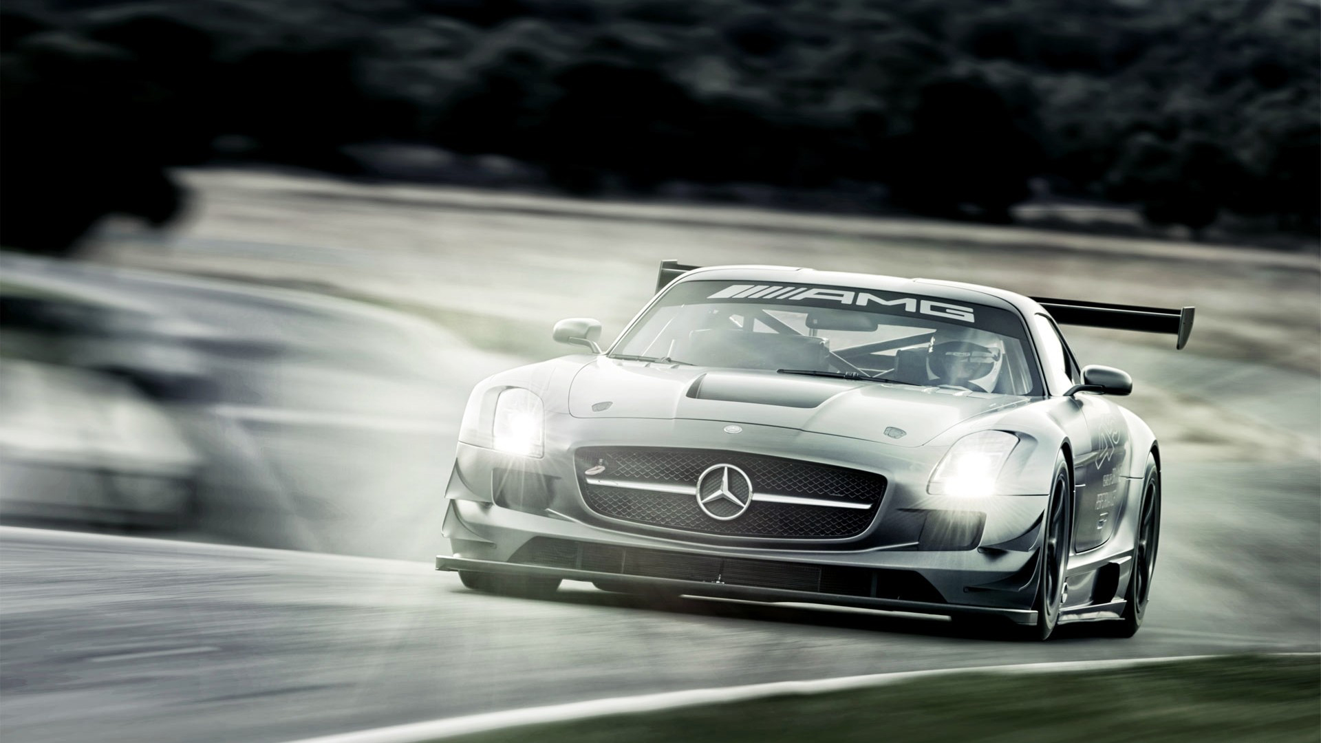 1 mercedes benz sls amg gt3 hd wallpapers backgrounds for Mercedes benz gt3