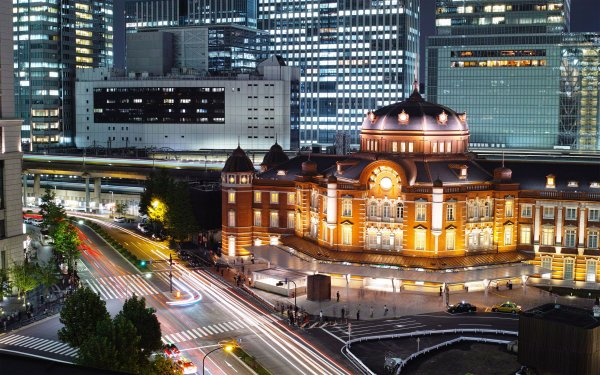 Man Made Train Station Tokyo Building HD Wallpaper   Background Image