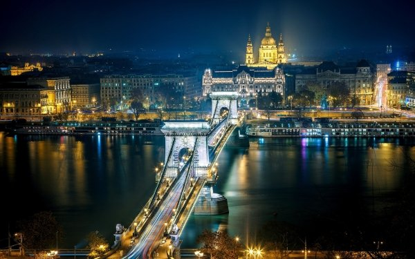 Man Made The Chain Bridge Bridges Chain Bridge Budapest Hungary HD Wallpaper | Background Image