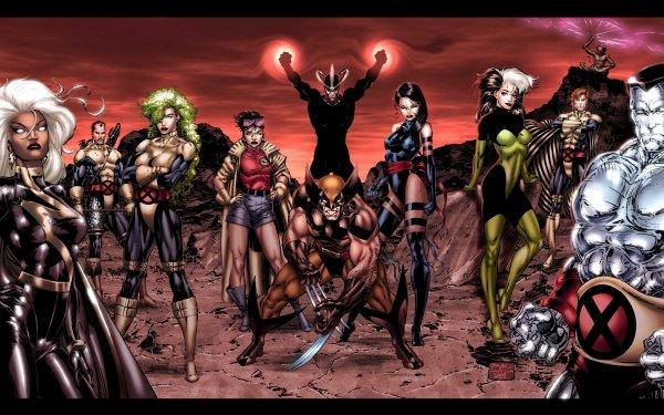 Comics X-Men Wolverine Psylocke Rogue Colossus Storm Banshee Jubilee Havok Polaris Forge HD Wallpaper | Background Image