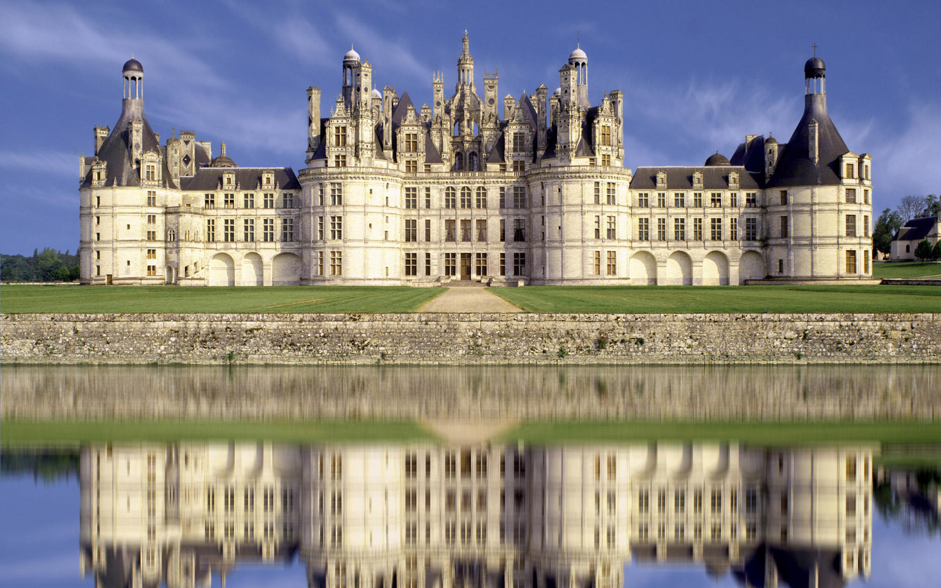 Chateau De Chambord Fond D Ecran Hd Arriere Plan