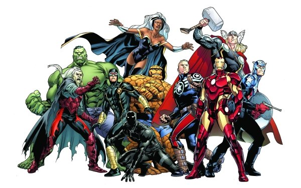 Bande-dessinées Marvel Comics Hulk Cyclops Ben Grimm Thing T'Challa Winter Soldier Iron Man Thor Captain America Les Vengeurs Storm Black Panther Earth 616 Fond d'écran HD | Image