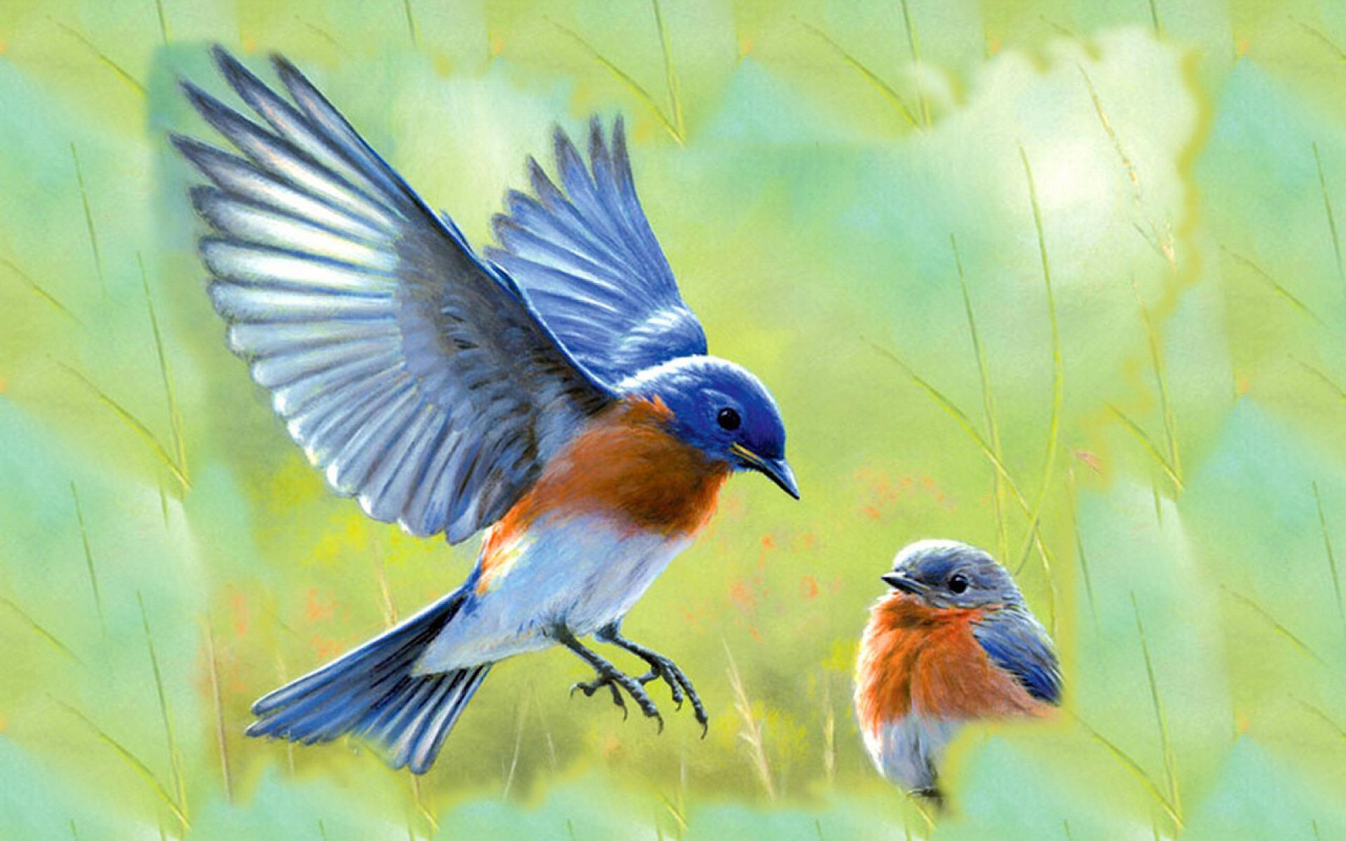 Italian Blue Bird Painting