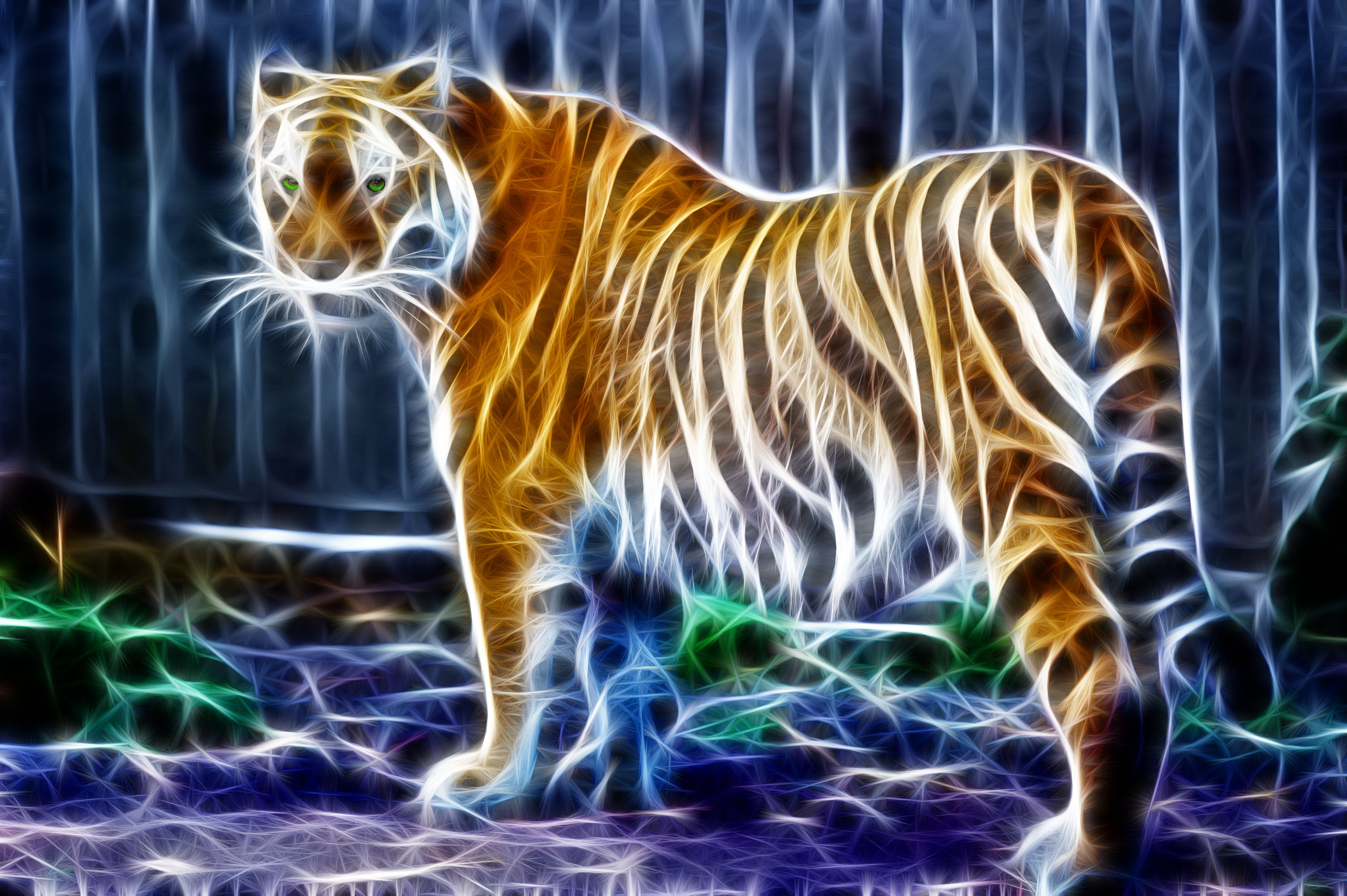 Wallpaper HD  Tiger Image | 4k | 4099x2728 Ultra Background