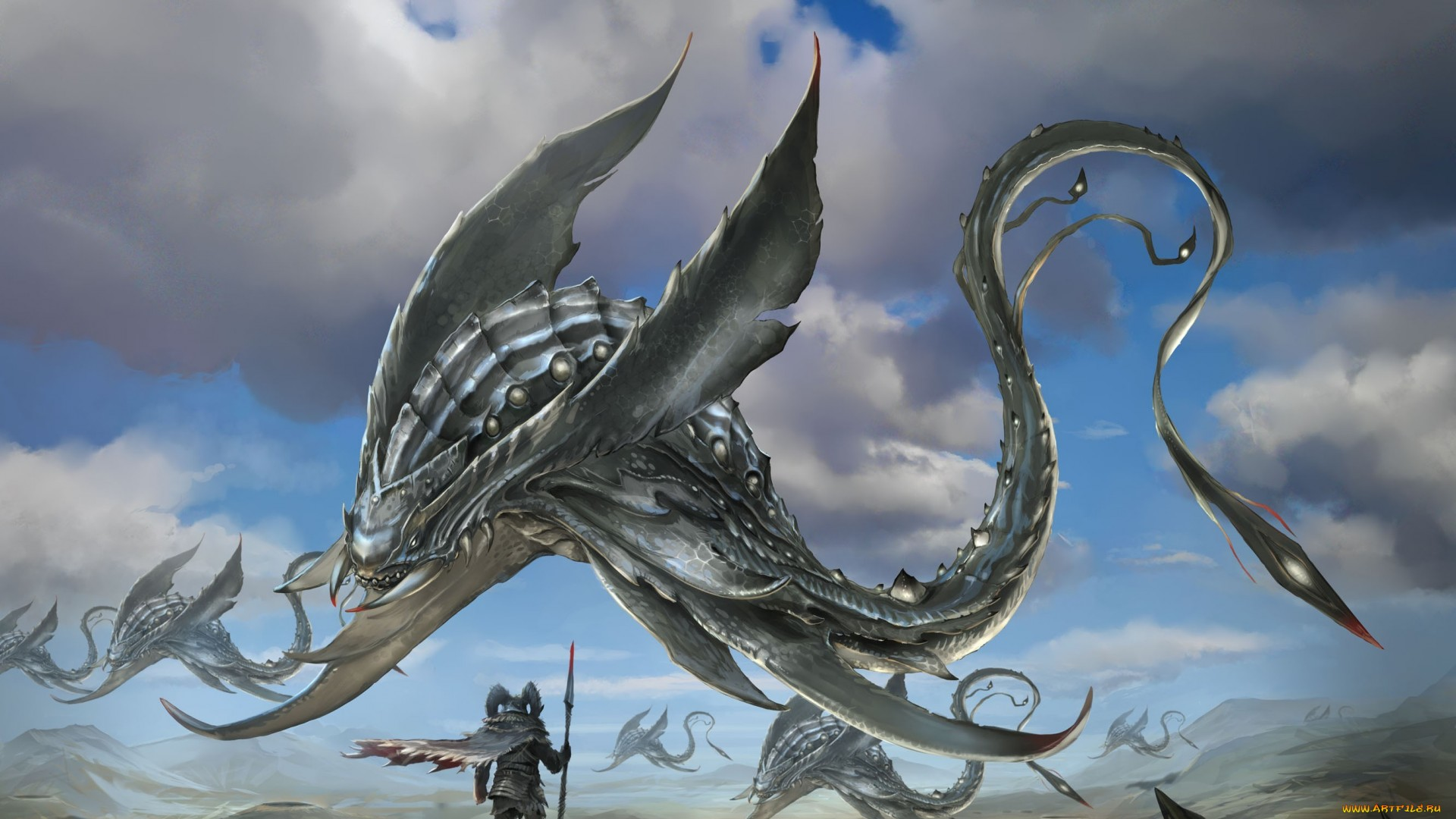 training fantasy creature animated wallpaper
