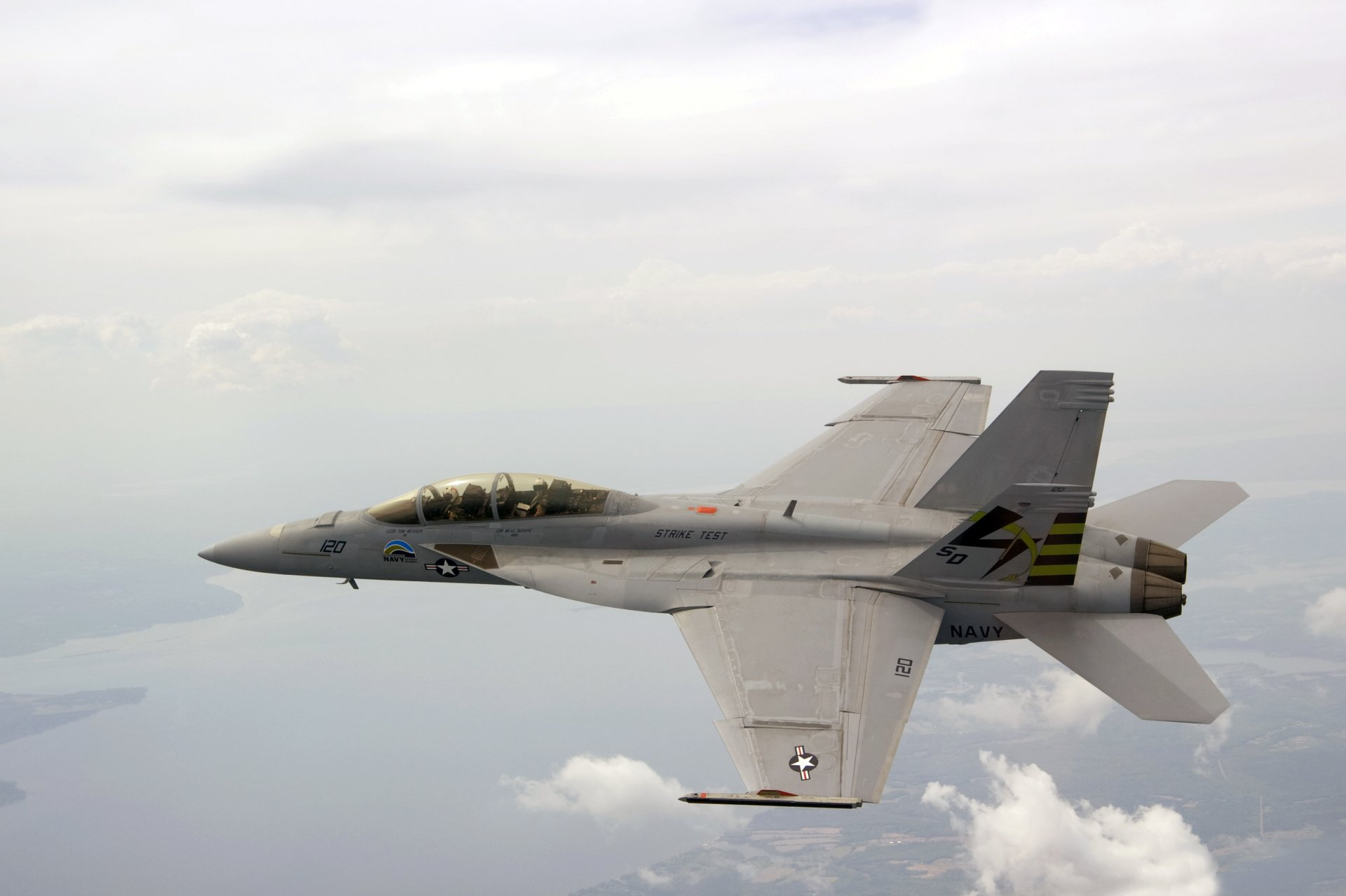 Military - Boeing F/A-18E/F Super Hornet  Military Super Hornet Aircraft Airplane Vehicle Navy McDonnell Douglas F/A-18 Hornet Wallpaper