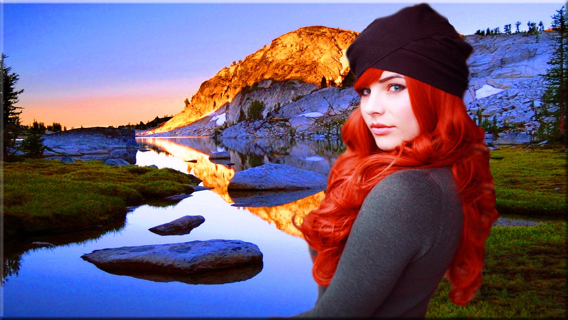 Beautiful Redhead In Nature Full Hd Wallpaper And Background Image  1920X1080  Id375522-7955