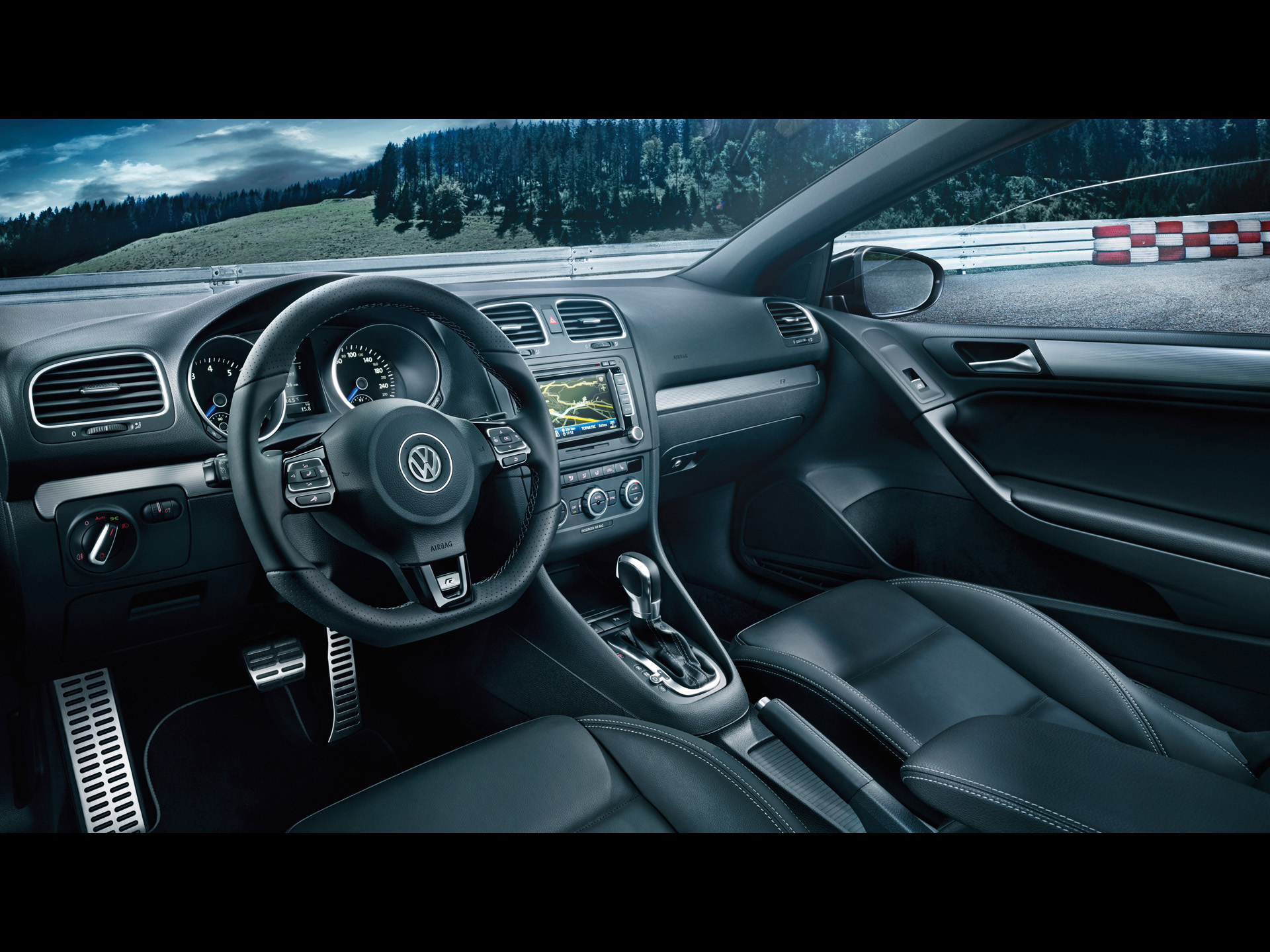 2013 Volkswagen Golf R Cabriolet Full HD Wallpaper And Background