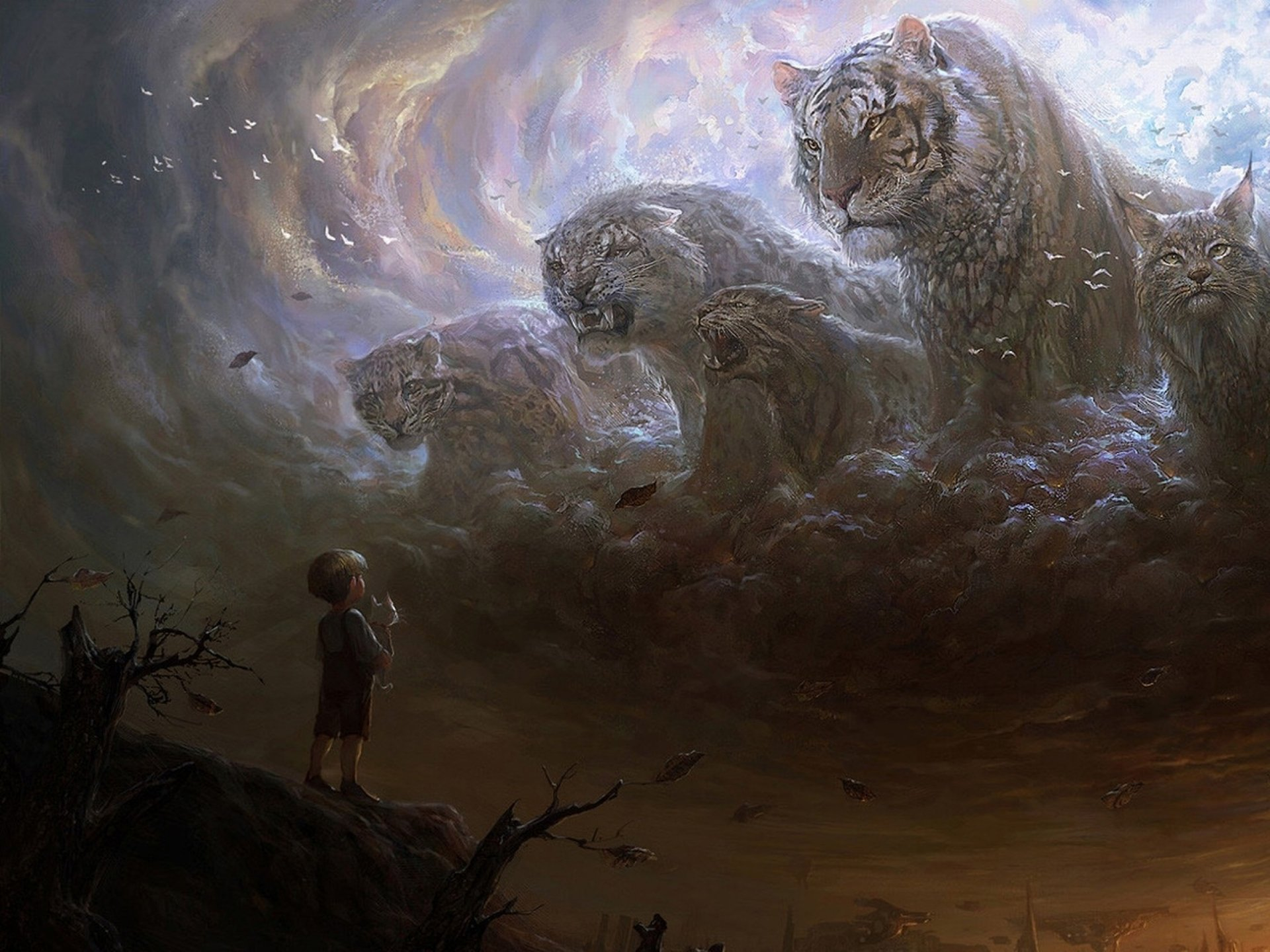 Fantasy - Animal  Big Cat Sky Wallpaper