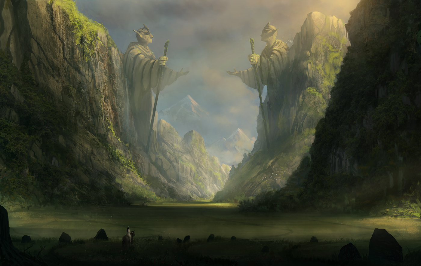 Through The Ancient Valley Wallpaper And Background Image