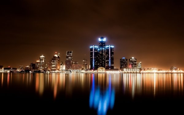 Man Made Detroit Cities United States HD Wallpaper | Background Image