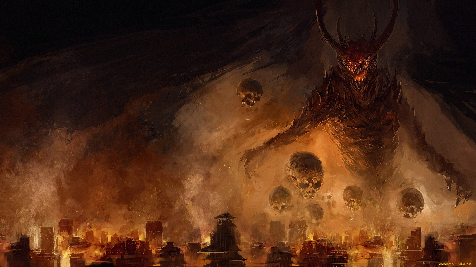 Обои на рабочий стол тема ад