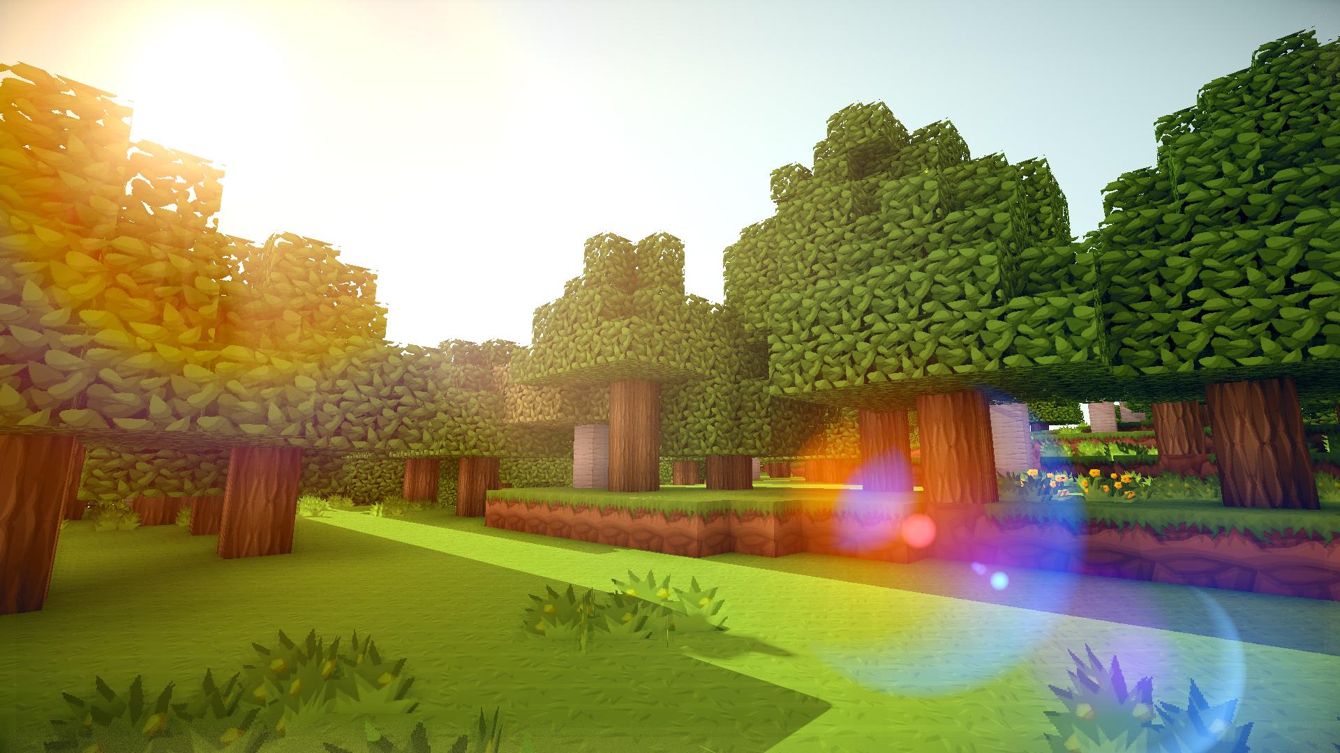 Minecraft Landscape HD Desktop Wallpaper for K Ultra HD TV