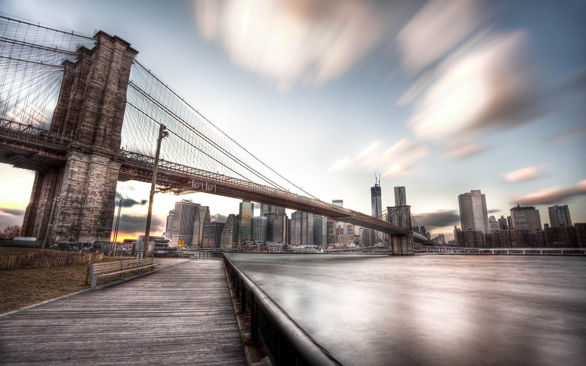 Brooklyn Bridge Hd Wallpaper Background Image 1920x1200