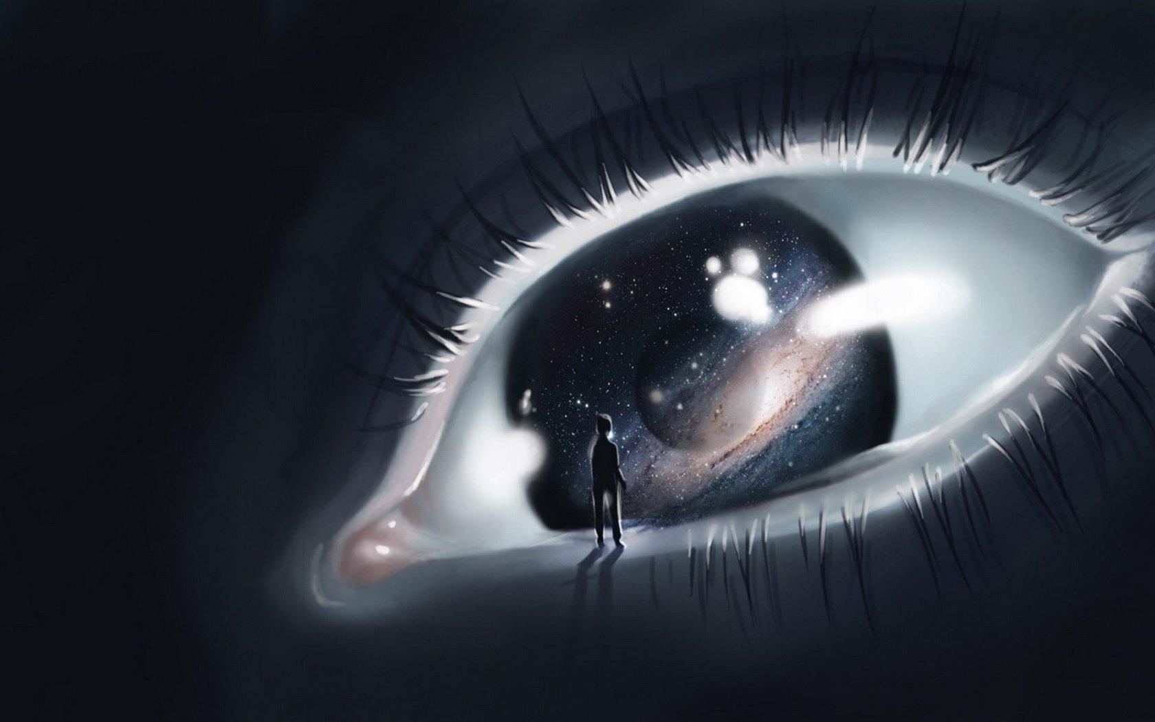 Background Artistic Eye Wallpaper