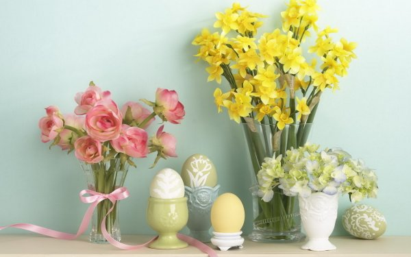 Photography Still Life Easter Flower HD Wallpaper | Background Image