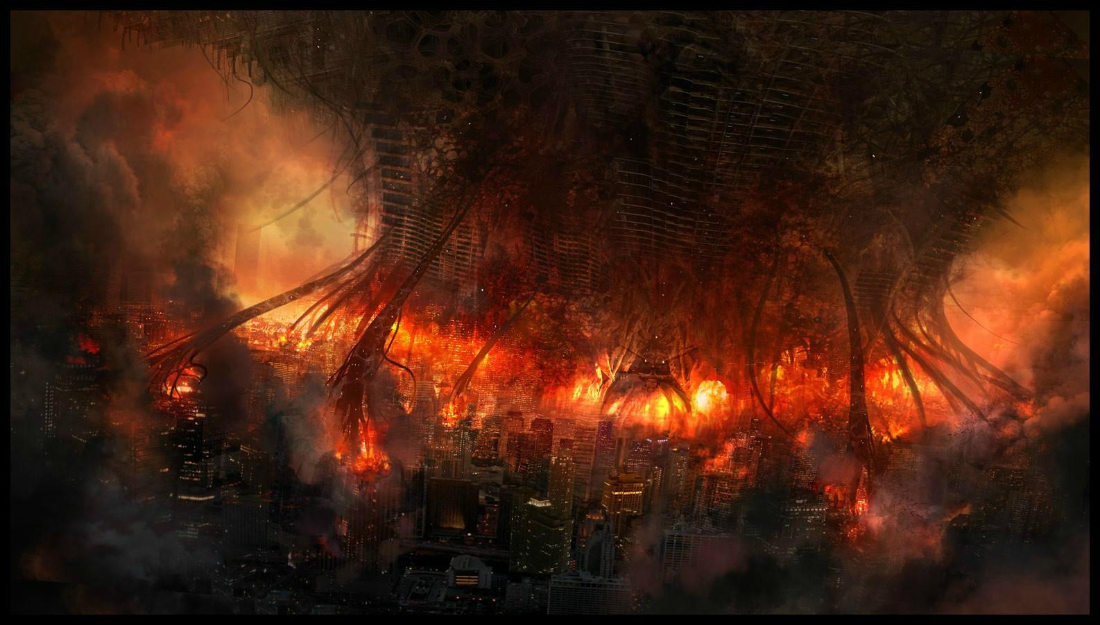 fire apocalypse background - photo #5