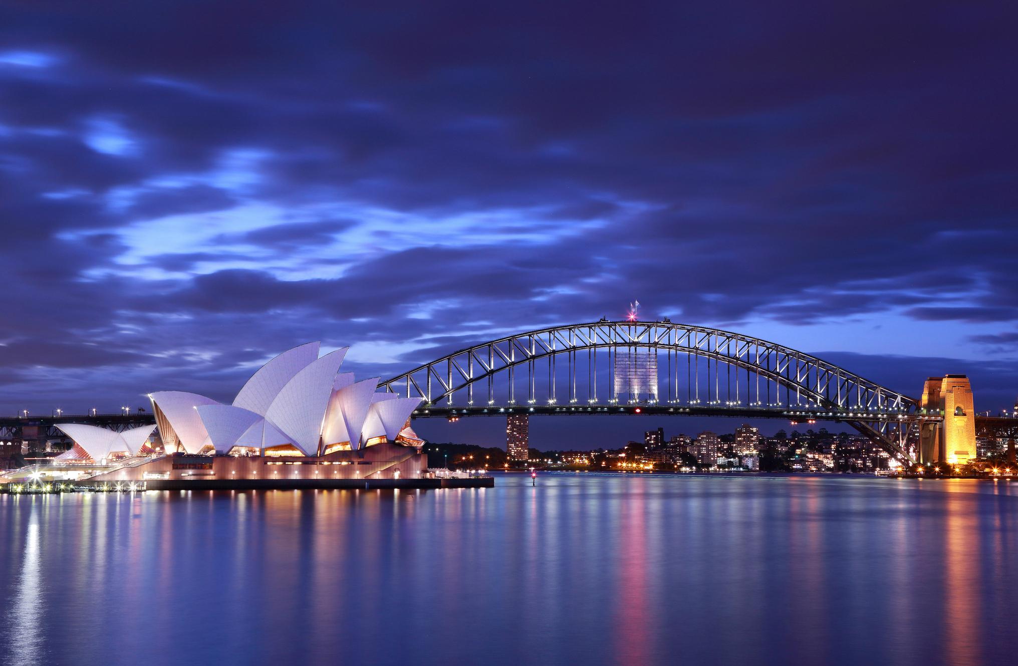 Sydney Harbour Bridge Hd Wallpaper Background Image 2032x1329
